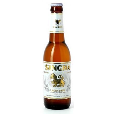 Bière SINGHA Blonde Thaïlandaise 5° 33 cl