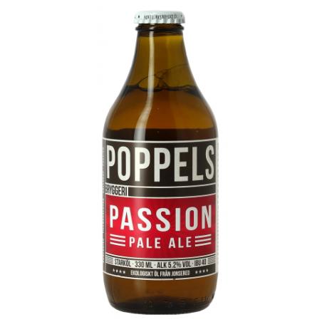 Bière POPPELS PASSION PALE ALE Blonde Suédoise 5,2° 33 cl