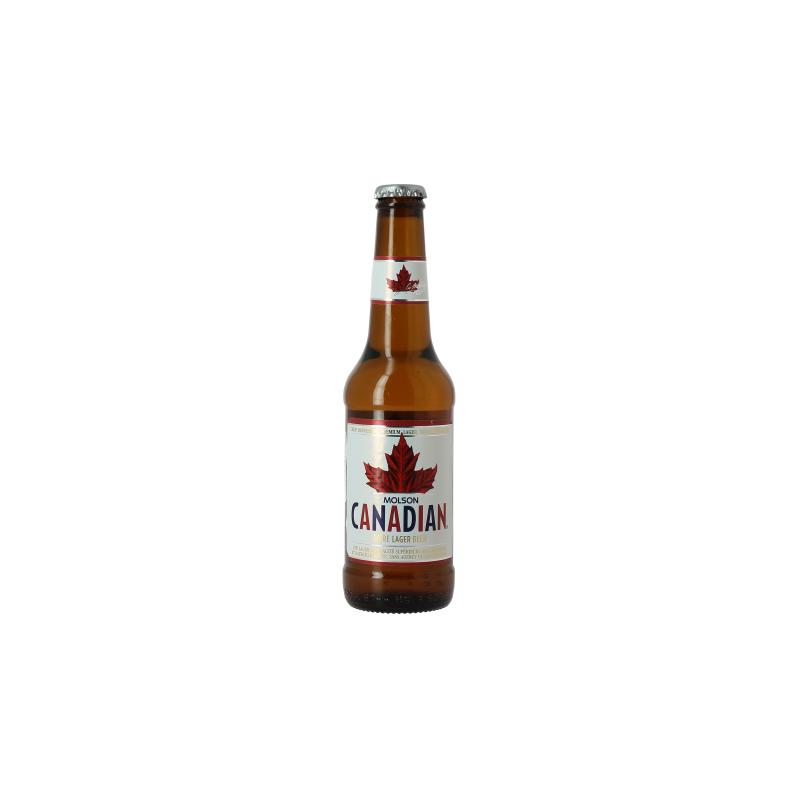 Bière MOLSON CANADIAN Blonde Canadienne 4° 33 cl