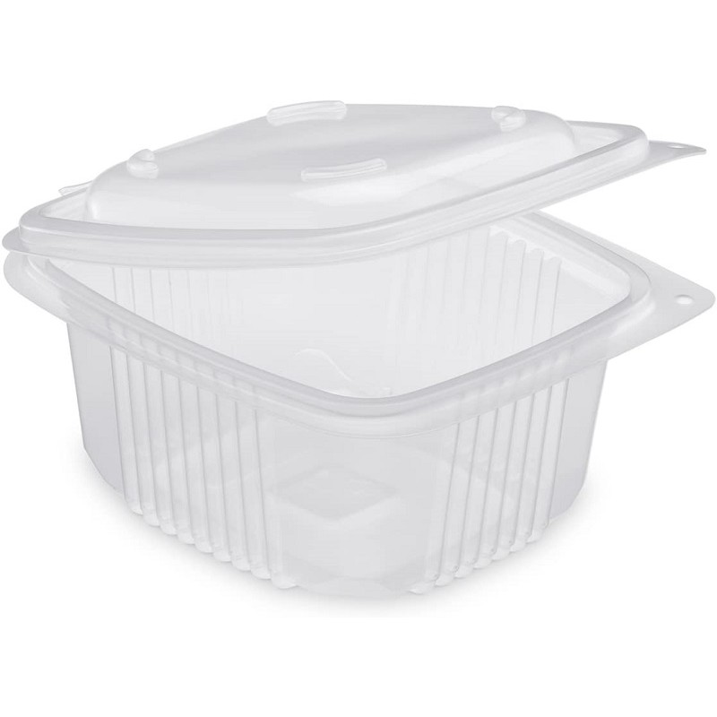 TRAY Polypropylene with retractable lid Microwaveable 1200 cc - the 50