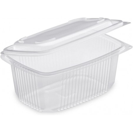 TRAY Polypropylene with retractable lid Microwaveable 1050 cc - the 50