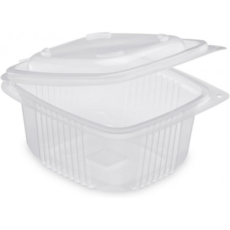 TRAY Polypropylene with retractable lid Microwaveable 375 cc - the 50