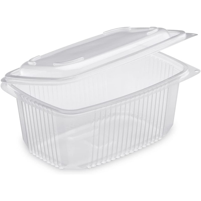 TRAY Polypropylene with retractable lid Microwaveable 500 cc - the 50
