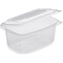 TRAY Polypropylene with retractable lid Microwaveable 800 cc - the 50