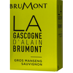Domaine Brumont GASCOGNE Dry White Wine Gros Manseng - Sauvignon IGP Fountain à nin BIB 5 L