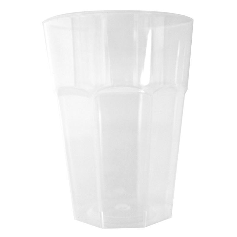 CUP Fiesta Wiederverwendbares transparentes Polypropylen 30 cl - Packung mit 10 Stück