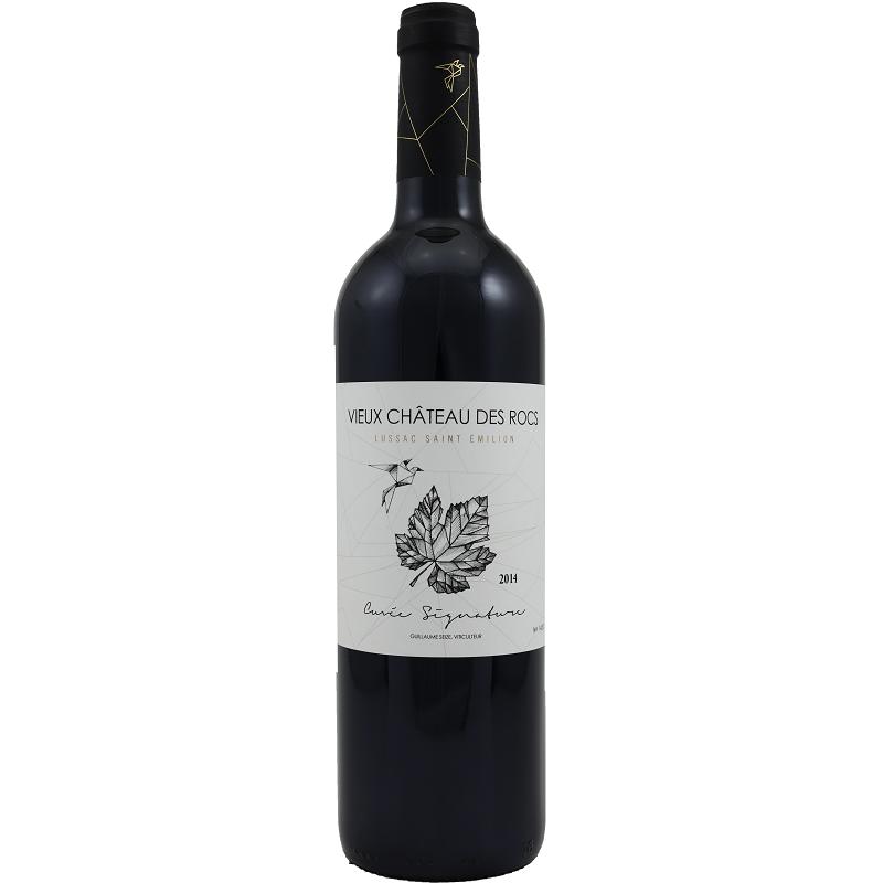 Signature Vieux Château des Rocs LUSSAC SAINT EMILION Vino Tinto DOP 75 cl
