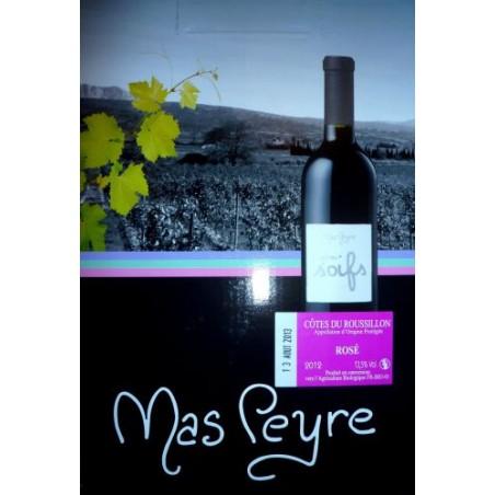 Mas Peyre COTES DU ROUSSILLON Vin Rosé AOP BIO Fontaine à vin BIB 5 L