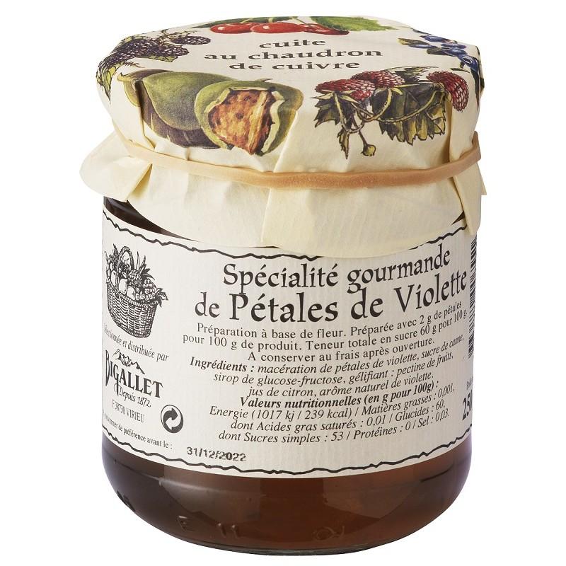 CONFIT of Violet Petals Bigallet cooked in a cauldron - 250 g jar