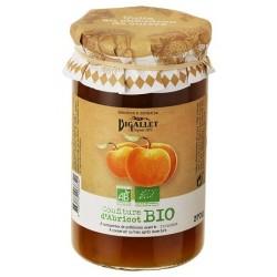 Bio Bigallet Aprikosenmarmelade gekocht in einem Kessel - 370 g Glas