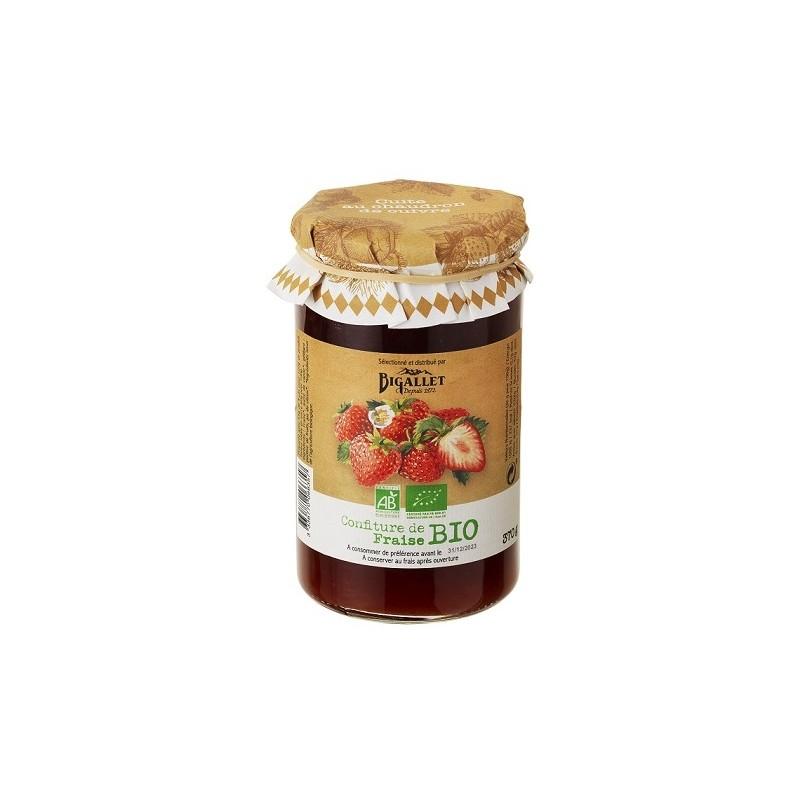 MERMELADA de Fresa Bigallet ECOLÓGICA cocida en caldero - Tarro 370 g