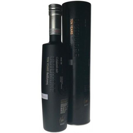 WHISKEY OCTOMORE 10 years Ten Years Dialogos 2008 very Tourbé Islay 56.8 ° 70 cl in its case