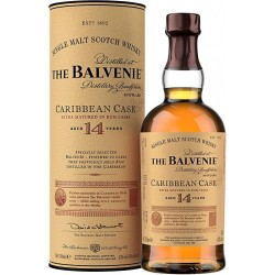 WHISKY Das Balvenie Caribbean Cask 14 Jahre alt 43 ° 70 cl in seinem Fall