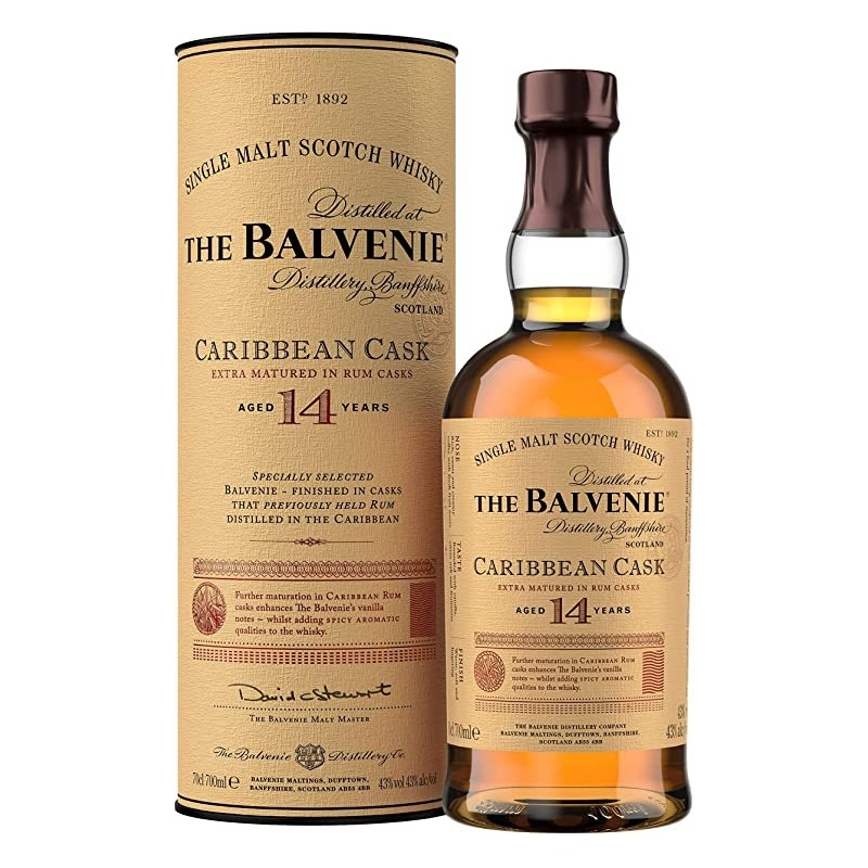 WHISKEY The Balvenie Caribbean Cask 14 years old 43 ° 70 cl in its case
