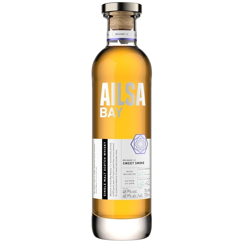 "WHISKY Ailsa Bay ""Sweet Smoke"" Schottland 48,9 ° 70 cl"