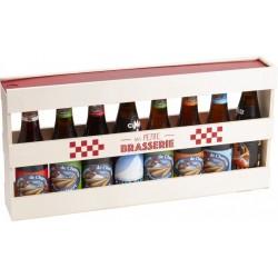 SCATOLA in legno Mezzo metro per 8 bottiglie BIRRA 50,7x8x25 cm