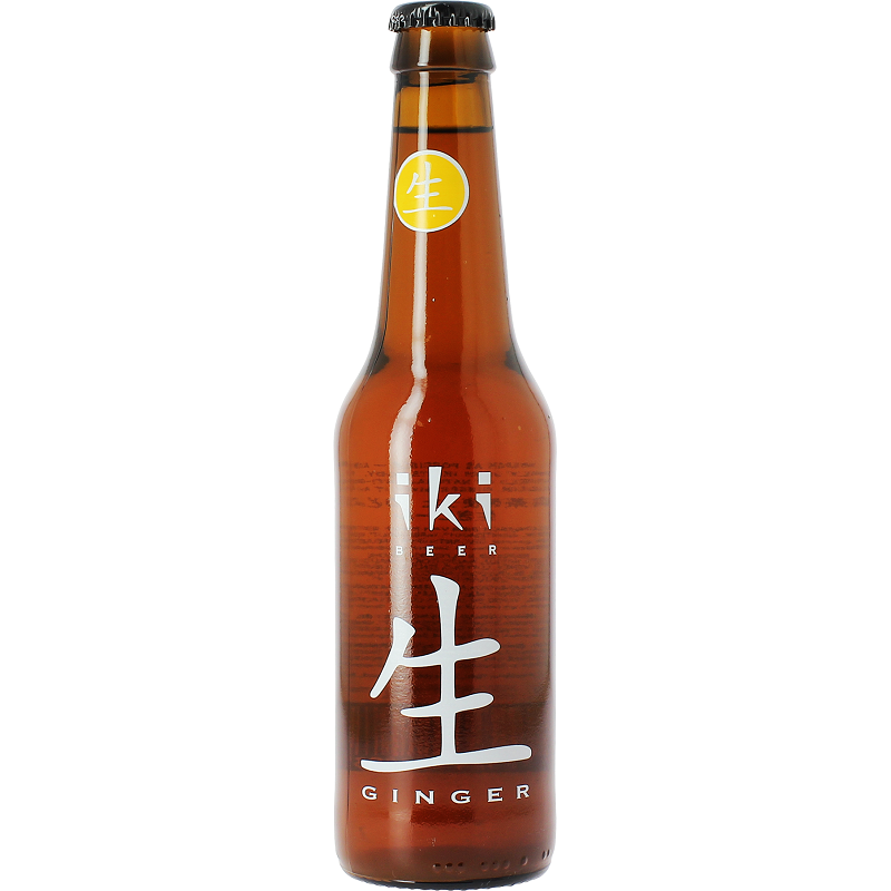 IKI Ginger Amber Beer with Ginger and Japanese Green Tea 5,5 ° BIO 33 cl