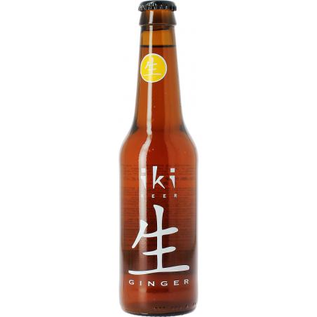 Bière IKI Ginger Ambrée au Gingembre et Thé vert Japonnaise 5,5° BIO 33 cl