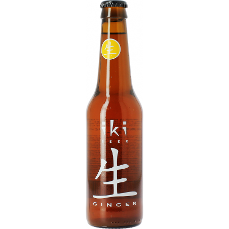 Cerveza IKI Ginger Amber con Jengibre y Té Verde Japonés 5,5 ° BIO 33 cl