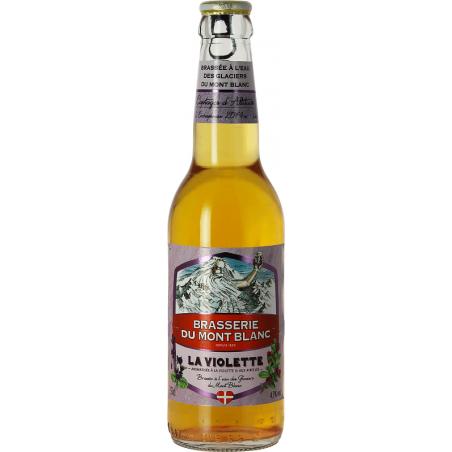 MONT BLANC Cerveza La Violette Blonde con violetas francesas 4.7 ° 33 cl