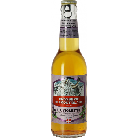 MONT BLANC La Violette Blonde beer with French violets 4.7 ° 33 cl