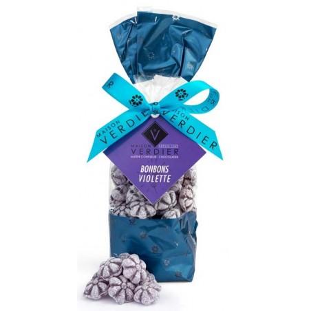 Violet candies Verdier bag of 200 g