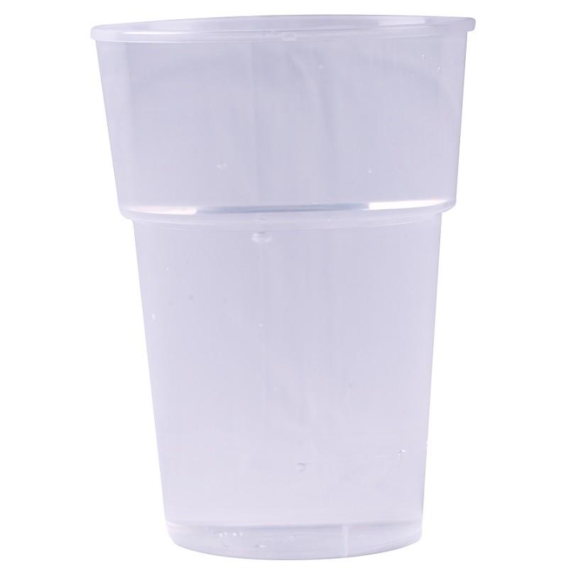 GOBELET à bière en plastique transparent réutilisable 25 cl/33 cl - les 50
