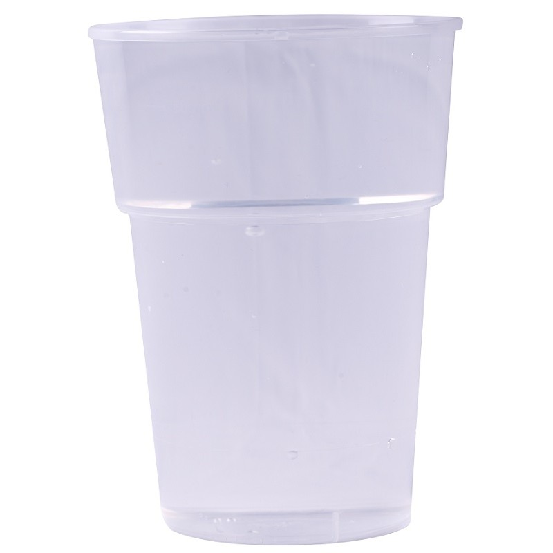 Reusable transparent plastic beer CUP 25 cl / 33 cl - the 50