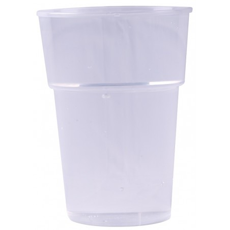 Mehrweg-Bierbecher aus transparentem Kunststoff 25 cl / 33 cl - die 50