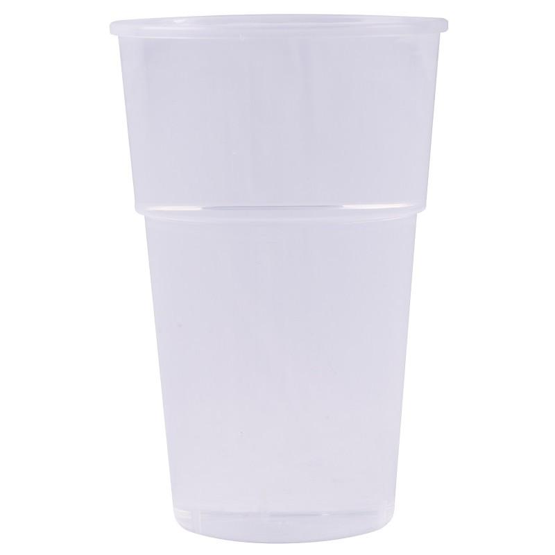 Bicchiere da birra in plastica trasparente riutilizzabile 40 cl / 50 cl / 63 cl - il 25