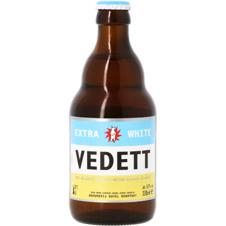 Bière VEDETT WITTE Blanche Belge 4,7° 33 cl