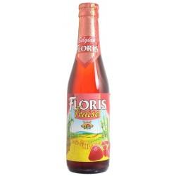 Bière FLORIS à la Fraise Blanche Belge 3,6° 33 cl