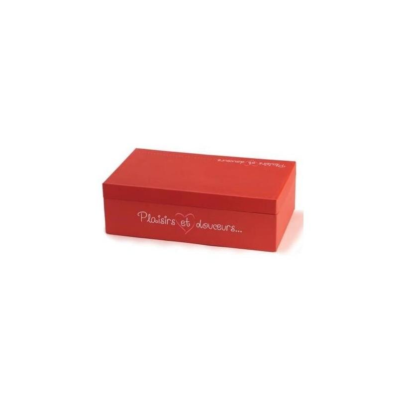 """CORBEILLE Carton -Violet- 27x20x5 """"Plaisirs et Douceurs"""""""